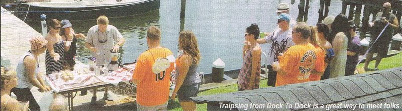 boaters traipsing