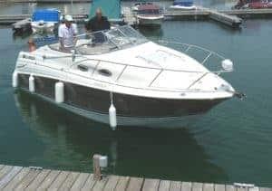 power boat docking