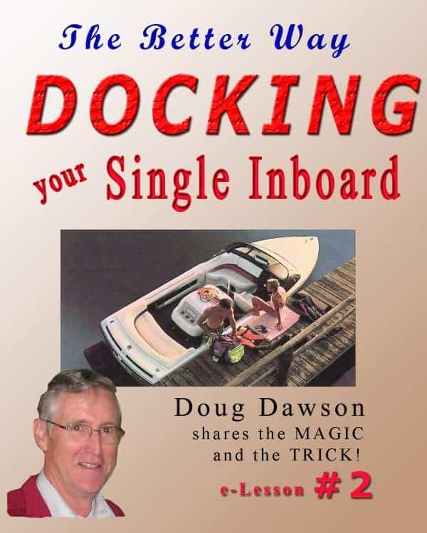 docking a single inboard boat