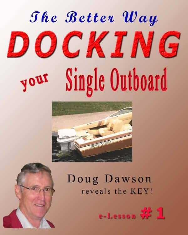 how to dock your single outboard boat