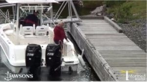 how to dock twin outboard boat