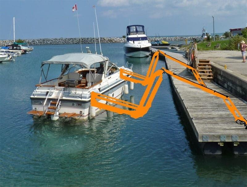 docking arms - self docking boat
